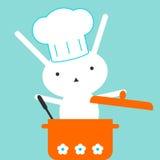 Coniglietto del cuoco unico Immagine Stock Libera da Diritti