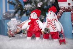 Coniglietto del giocattolo di Natale Immagini Stock