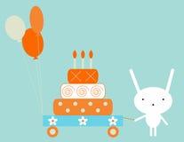 Coniglietto di compleanno Fotografia Stock