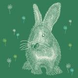 Coniglietto di pasqua bianco lanuginoso royalty illustrazione gratis