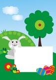 Coniglietto di pasqua con il blocco per grafici della foto Immagini Stock Libere da Diritti