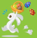 Coniglietto di pasqua con il cestino illustrazione di stock