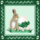 Coniglietto di pasqua con l'uovo di Pasqua illustrazione vettoriale