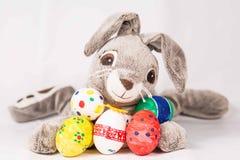 Coniglietto di pasqua con le uova Fotografie Stock Libere da Diritti