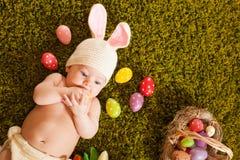 Coniglietto di pasqua del bambino Immagini Stock