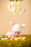 Coniglietto di pasqua del bambino Fotografie Stock Libere da Diritti