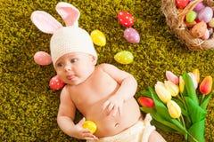 Coniglietto di pasqua del bambino Fotografie Stock