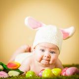 Coniglietto di pasqua del bambino Immagini Stock Libere da Diritti