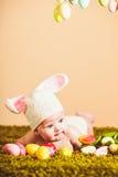 Coniglietto di pasqua del bambino Immagine Stock