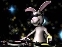 Coniglietto di pasqua DJ Immagini Stock Libere da Diritti