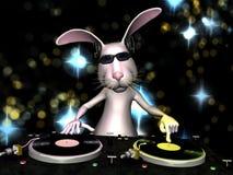 Coniglietto di pasqua DJ Fotografia Stock