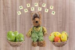 Coniglietto di pasqua ed uova di Pasqua Fotografia Stock