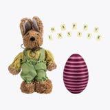 Coniglietto di pasqua ed uovo di Pasqua Immagini Stock Libere da Diritti