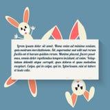 Coniglietto di pasqua nello stile piano Fotografia Stock Libera da Diritti