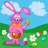 Coniglietto di pasqua con le uova Fotografie Stock
