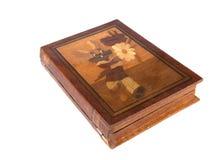 Coniglietto dipinto su una casella di legno Fotografia Stock