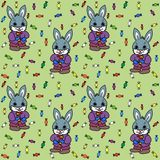 Coniglietto e caramelle Immagine Stock