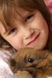 Coniglietto e me Fotografia Stock