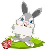 Coniglietto e scheda di pasqua Fotografie Stock Libere da Diritti