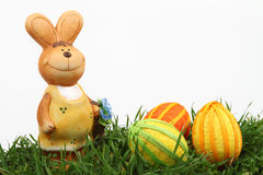 Coniglietto ed uova di pasqua fotografie stock libere da diritti