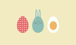Coniglietto ed uova di pasqua Immagini Stock Libere da Diritti