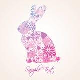 Coniglietto floreale di Pasqua Fotografie Stock