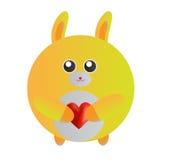 Coniglietto giallo Immagini Stock