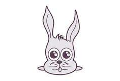 Coniglietto lanuginoso sveglio royalty illustrazione gratis