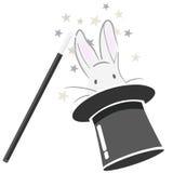 Coniglietto magico + vettore Fotografia Stock Libera da Diritti