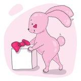 Coniglietto rosa Fotografia Stock Libera da Diritti