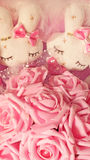 Coniglietto rosa del giocattolo Fotografia Stock