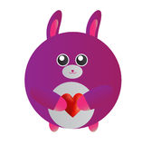Coniglietto rosa di amore Fotografia Stock Libera da Diritti