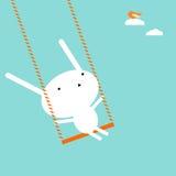 Coniglietto su un'oscillazione illustrazione vettoriale