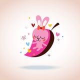 Coniglietto sveglio nell'amore Immagine Stock Libera da Diritti