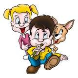 Coniglio & bambini Fotografia Stock