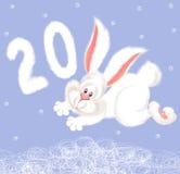 Coniglio bianco lanuginoso royalty illustrazione gratis
