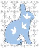 Coniglio blu Illustrazione di Stock