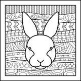 Coniglio cinese del segno dello zodiaco Immagine Stock