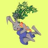 Coniglio con la carota royalty illustrazione gratis