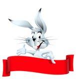 Coniglio con la fascia Immagini Stock Libere da Diritti