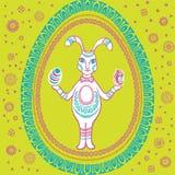 Coniglio d'annata felice di Pasqua Illustrazione Vettoriale