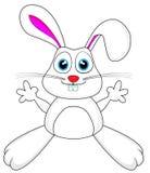 Coniglio di coniglietto bianco sveglio Immagini Stock