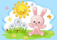 Coniglio di gioia. illustrazione di stock