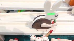 Coniglio di legno giù la pista Fotografie Stock Libere da Diritti