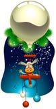 Coniglio di nuovo anno che pilota un aerostato magico Immagini Stock Libere da Diritti