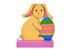 Coniglio di Pasqua con l'uovo Fotografie Stock Libere da Diritti