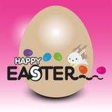 Coniglio di Pasqua con l'uovo di Pasqua Fotografia Stock Libera da Diritti