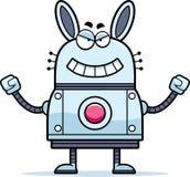 Coniglio diabolico del robot Immagine Stock