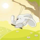 Coniglio divertente illustrazione di stock