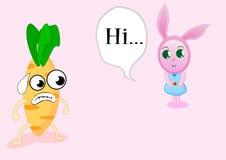 Coniglio e carota illustrazione vettoriale